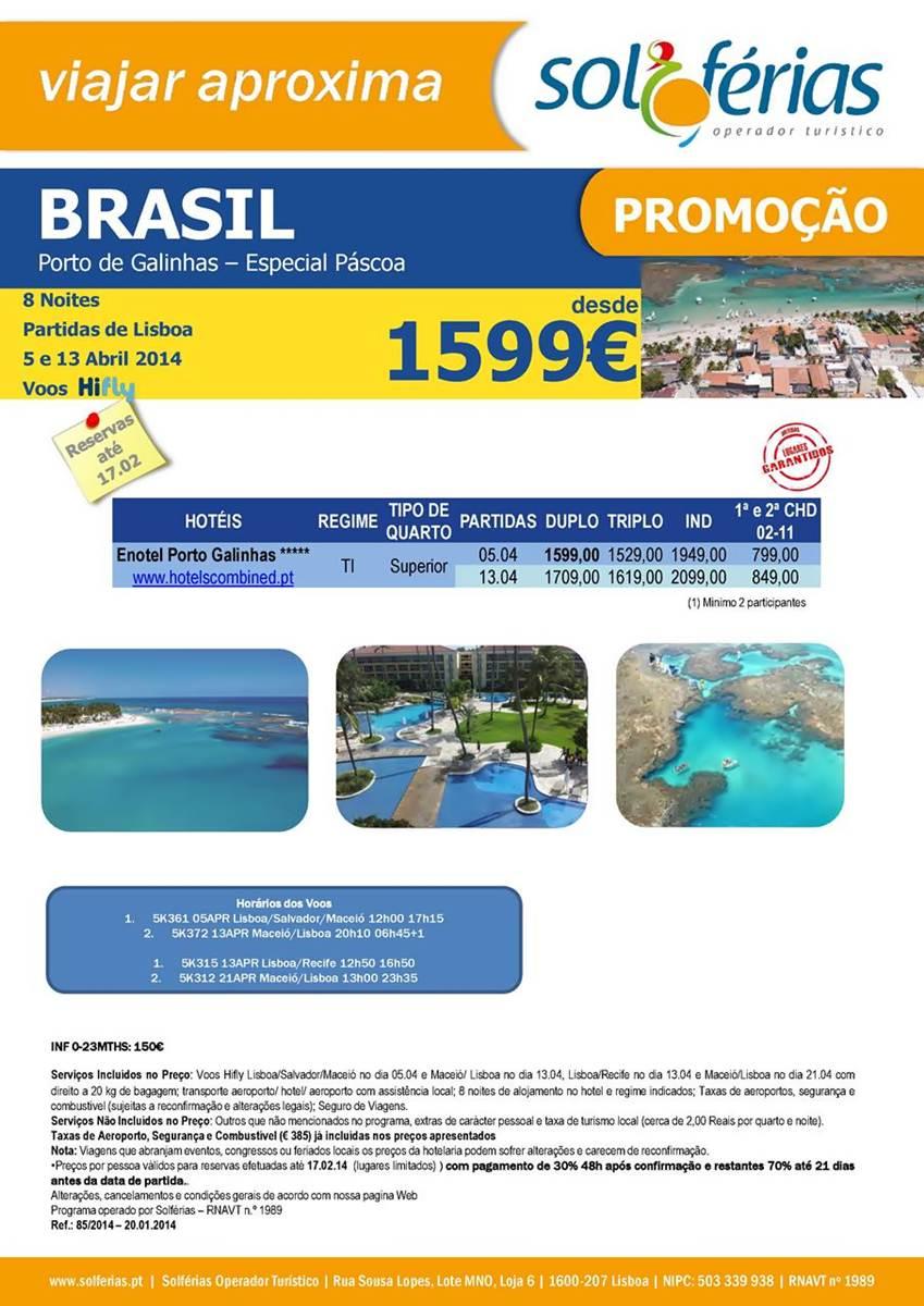 Brasil Porto Galinhas Especial Páscoa 2014
