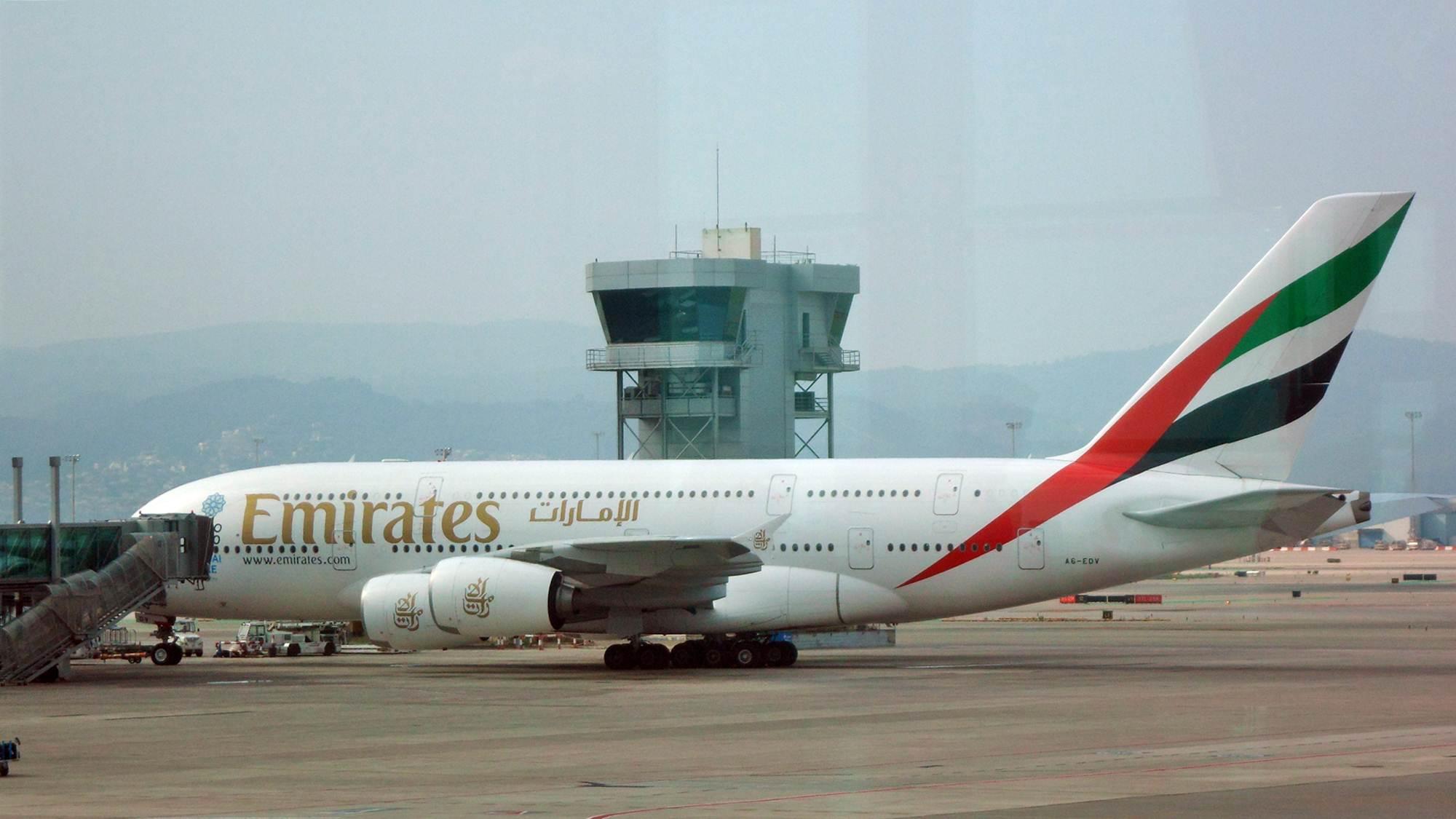 A380 da Companhia Aérea Emirates