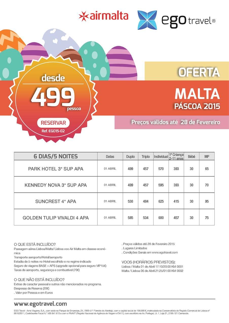 Promoção Férias ilha de Malta para a Páscoa 2015