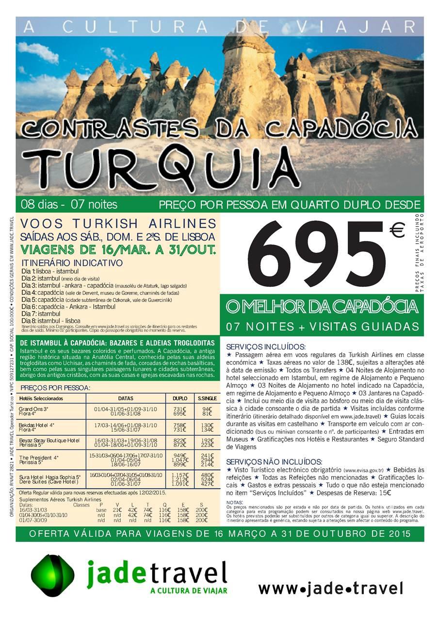 Contrastes da Capadócia 2015 desde 695€