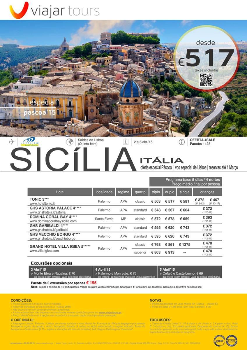 Férias Sicília Itália Páscoa 2015