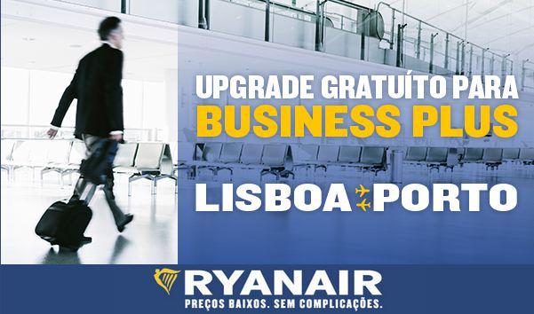Upgrade ryanair Lisboa Porto