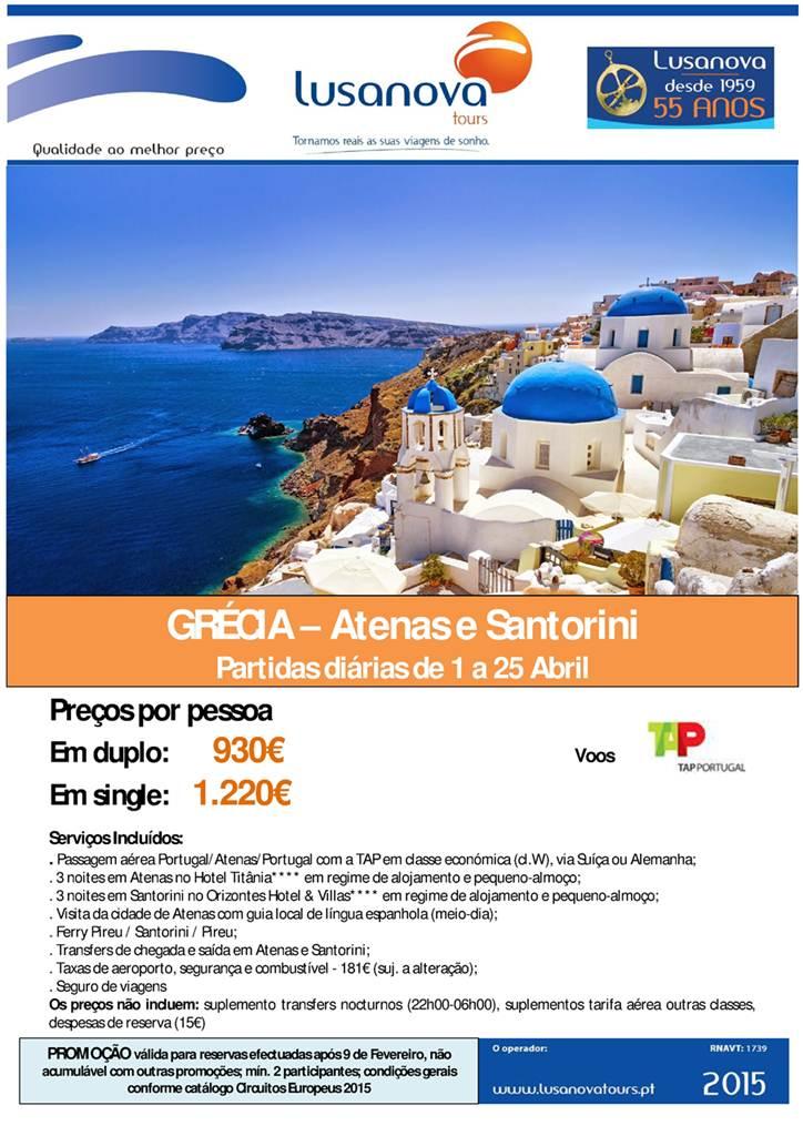 Atenas Santorini Abril a 930€