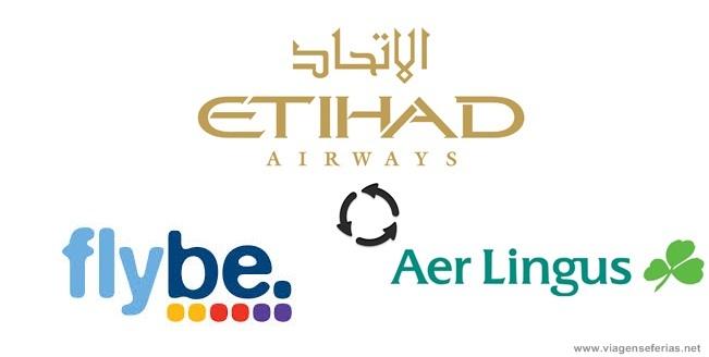 Logo Etihad, Flybe e Aer Lingus