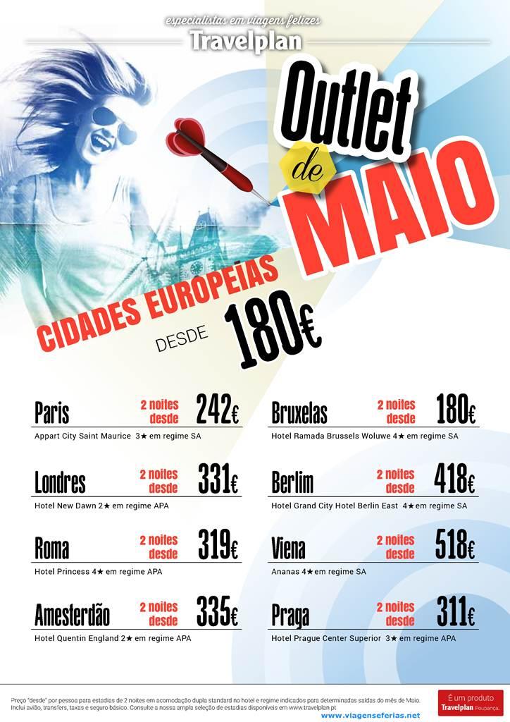Cidades Europeias Desde 180 No Outlet De Maio Travelplan Viagens E F 233 Rias