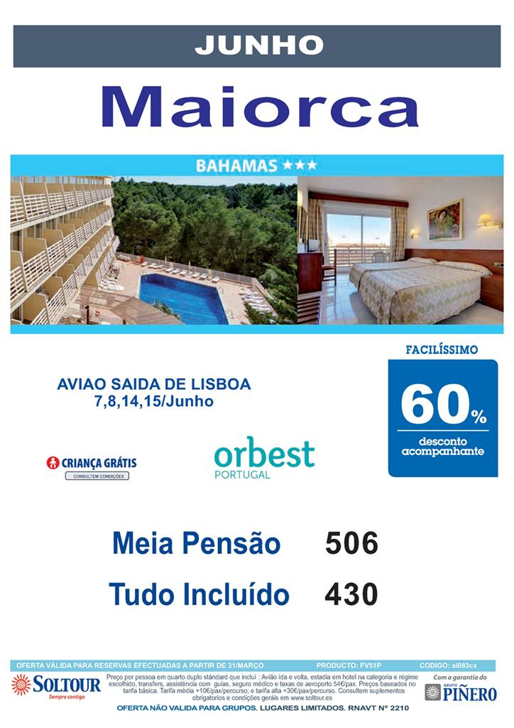 Hotel Bahamas Maiorca Junho 2015 a 506€