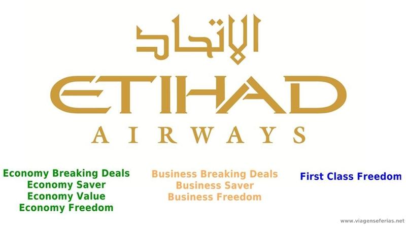 8 tarifas de avião da Etihad Airways