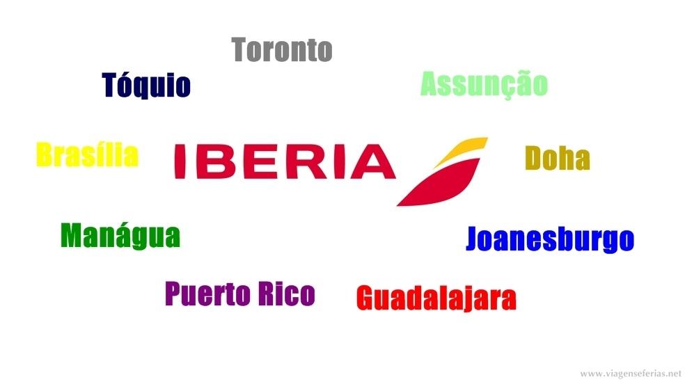 Possiveis 9 destinos da Iberia Airlines em 2016