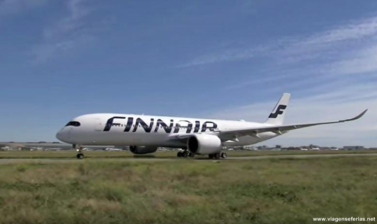 Airbus A350 XWB da Finnair em voo de teste