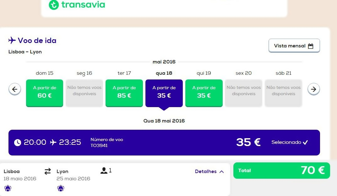 Desde 35 euros transavia inicia voos low cost lisboa lyon for Low cost lyon