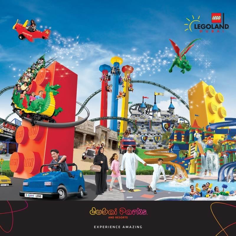 Apresentação do parque Legoland da Dubai Parks and Resorts