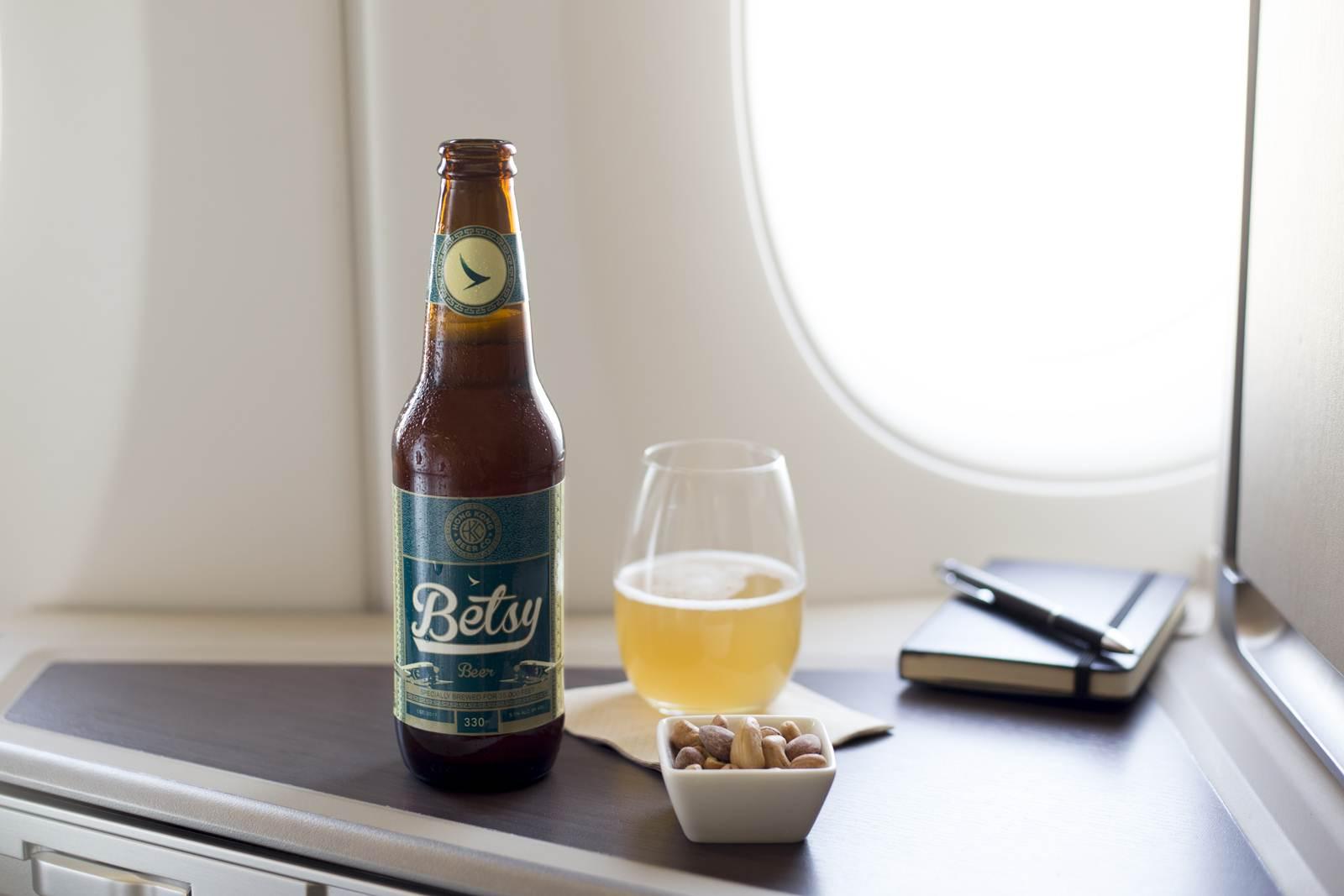 Cerveja Betsy da cathay Pacific desenvolvida para altas altitudes