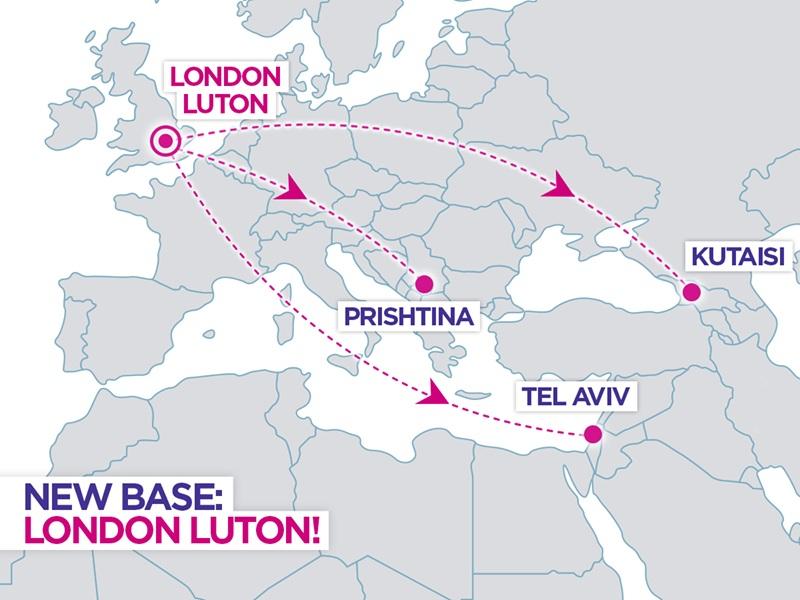 Base em Londres Luton da Companhia Aérea Low Cost Wizz Air