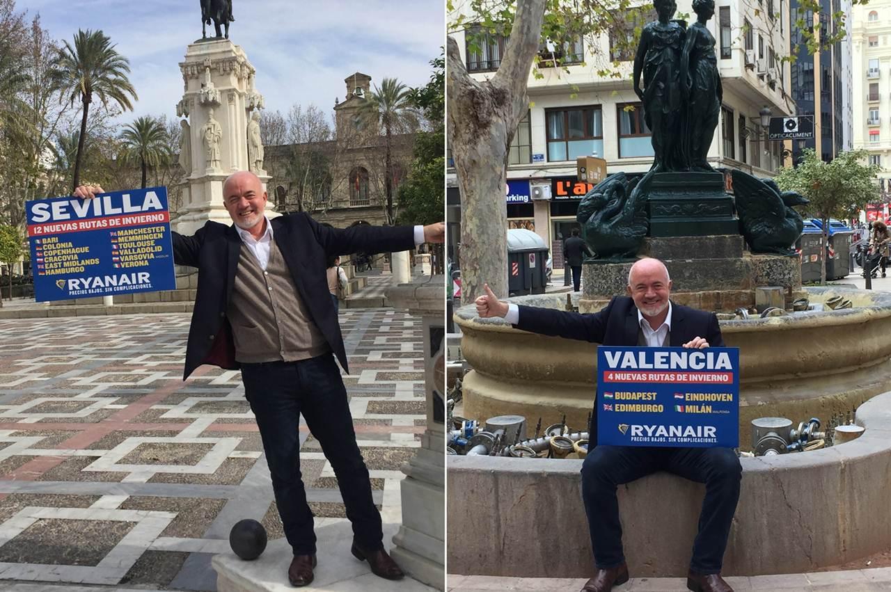 Sevilha tem 15 novas rotas de Inverno e Valencia 14 da Ryanair