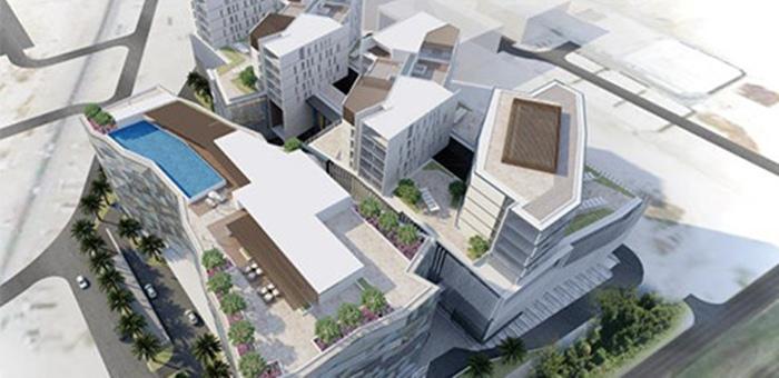 Modelo do futuro Mövenpick Hotel & Apartments Al Azaiba Muscat em Omã
