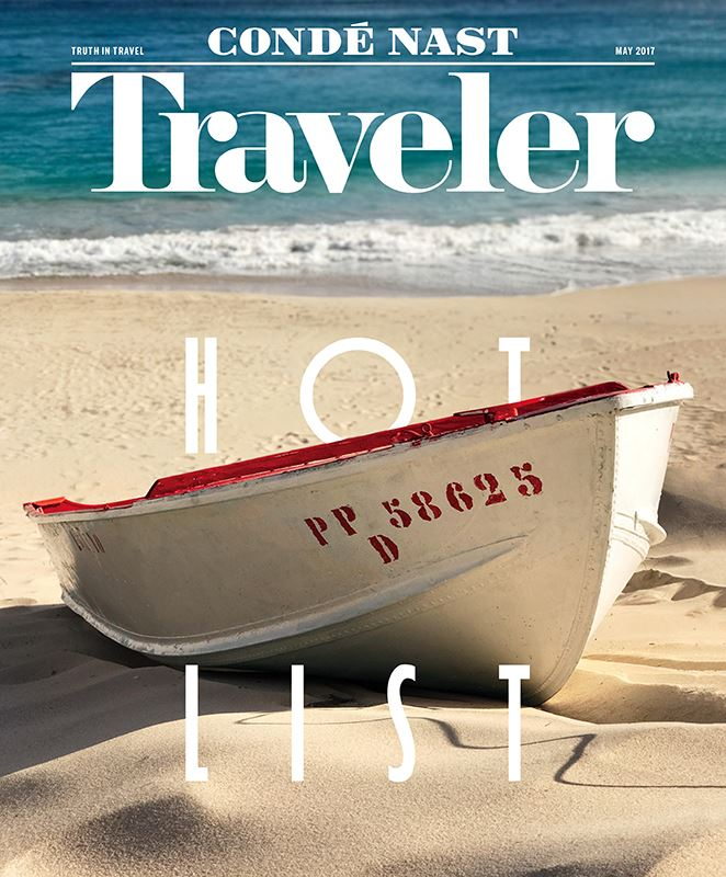 Capa da revista da Conde Nast Traveler com foto do iPhone 7 Plus