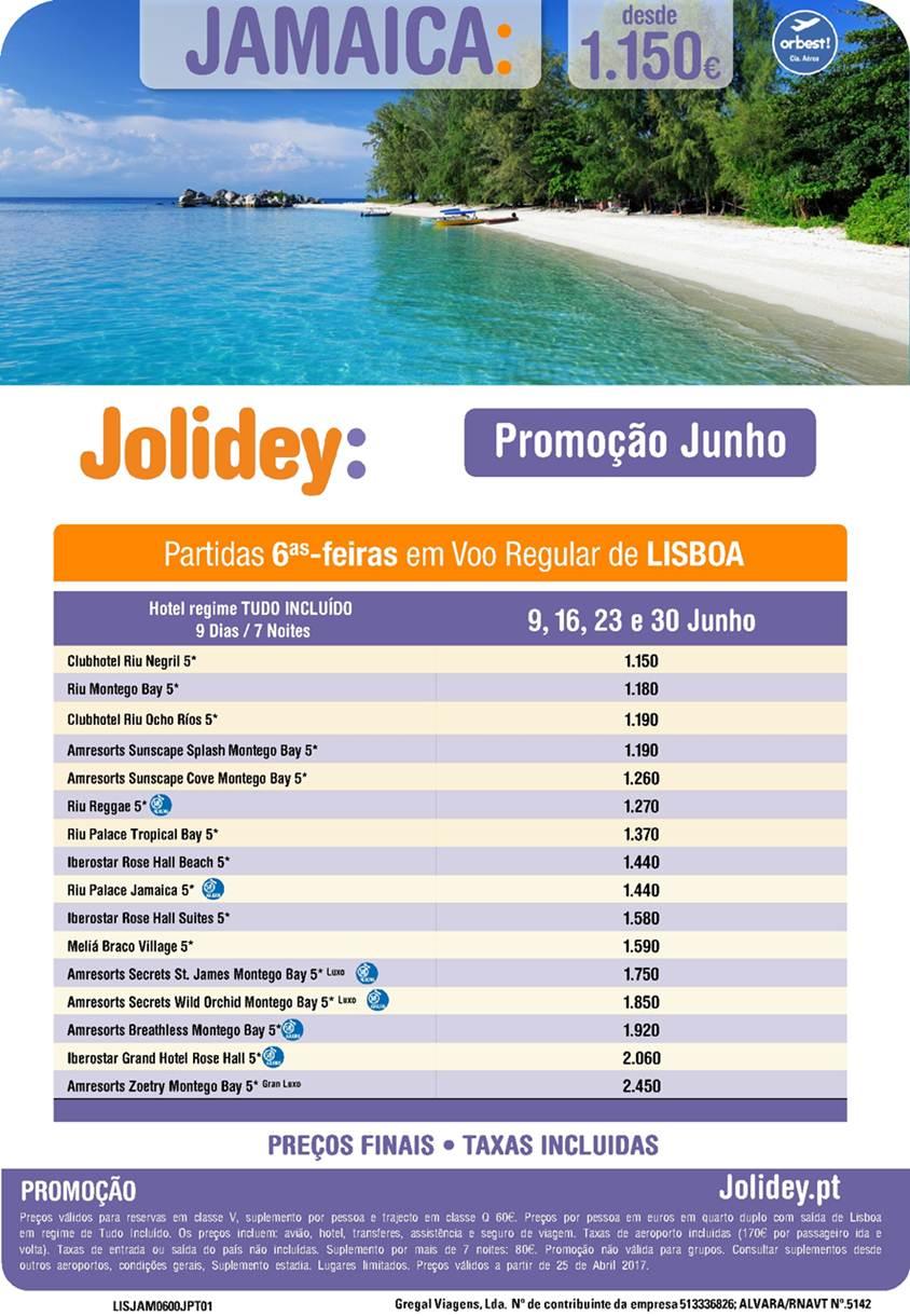 Pacote de Férias na Jamaica em Junho desde 1150€ em promoção de última hora