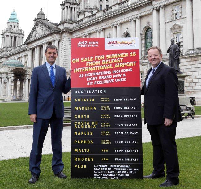 Jet2.com apresenta 8 novas rotas em Belfast para Verão 2018 incluindo Madeira