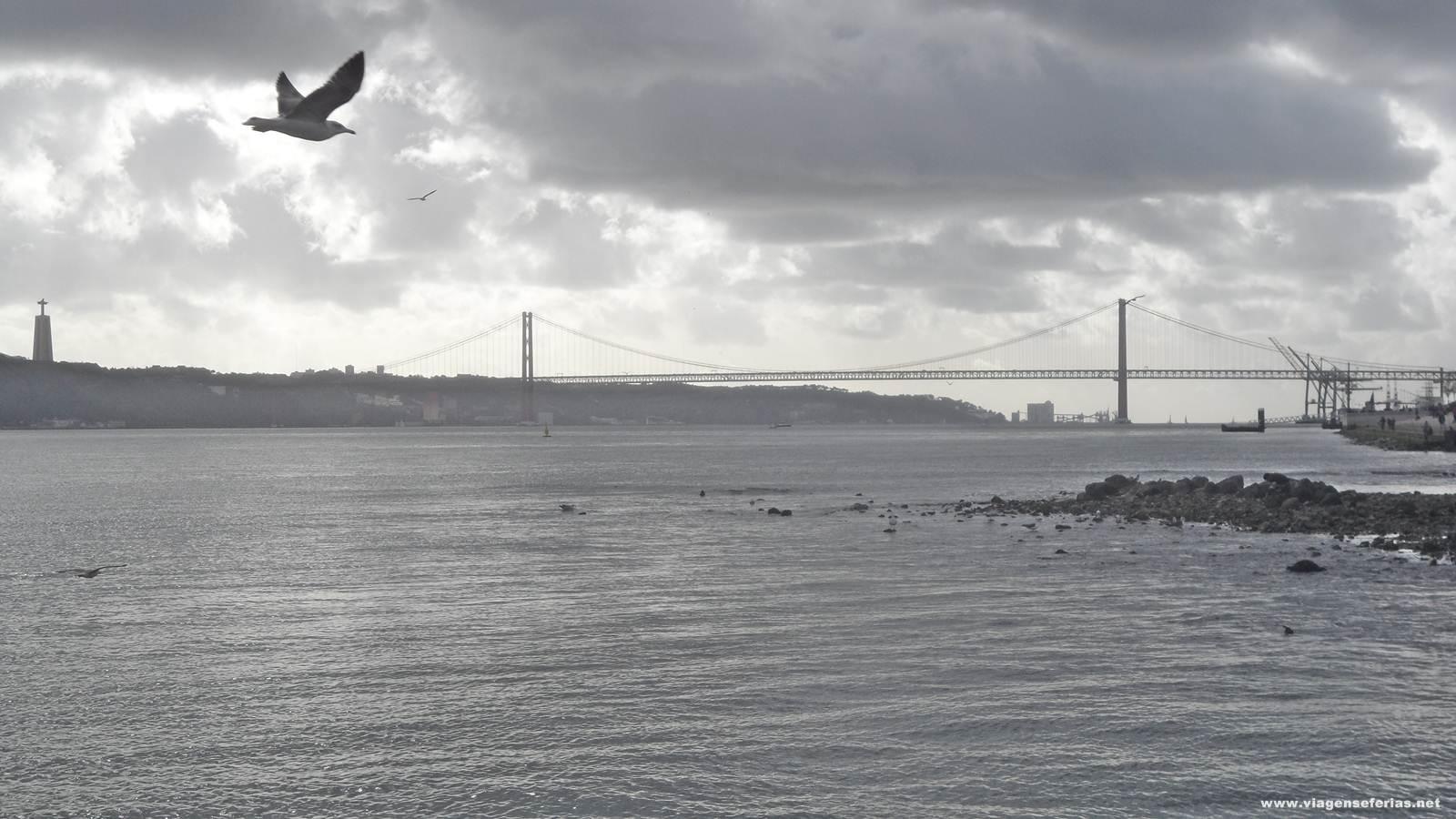 Lisboa no Inverno com vista desde o Terreiro do Paço