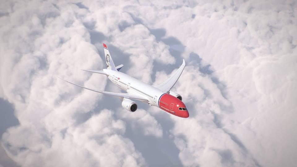 Aeronave B787 Dreamliner da Norwegian voa 4 vezes por semana até Singapura