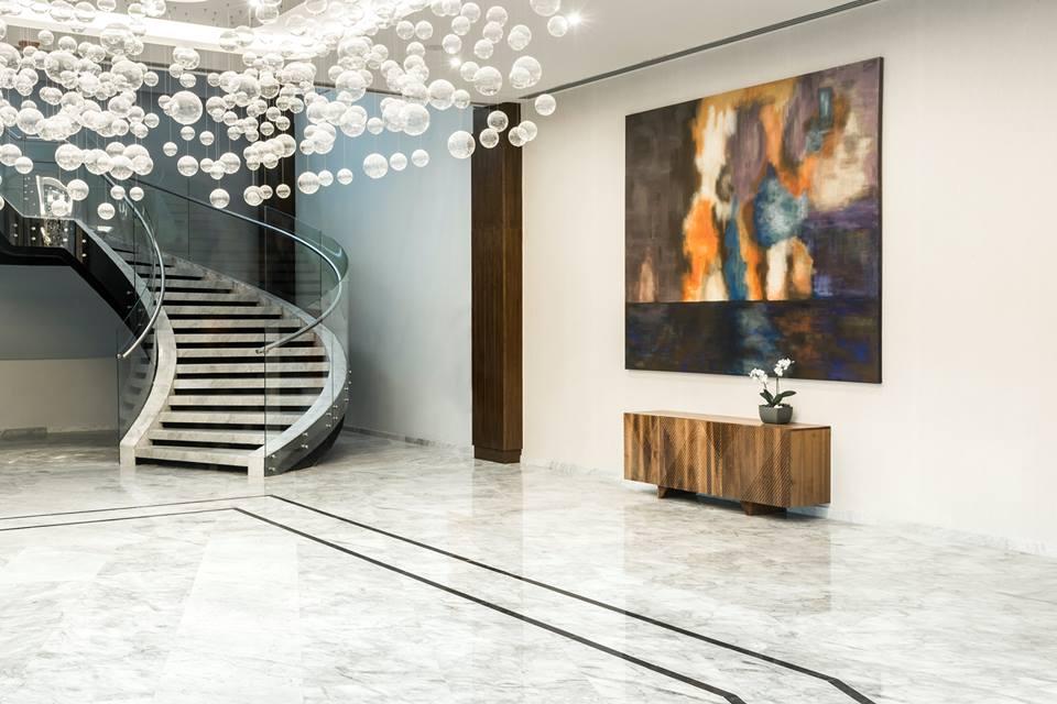 Lobby do hotel de luxo Conrad San Luis Potosi no México