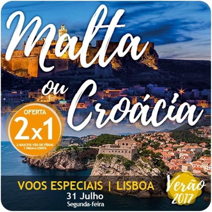 Férias em Malta e Croácia com promoção 2x1 para partidas a 31 de Julho