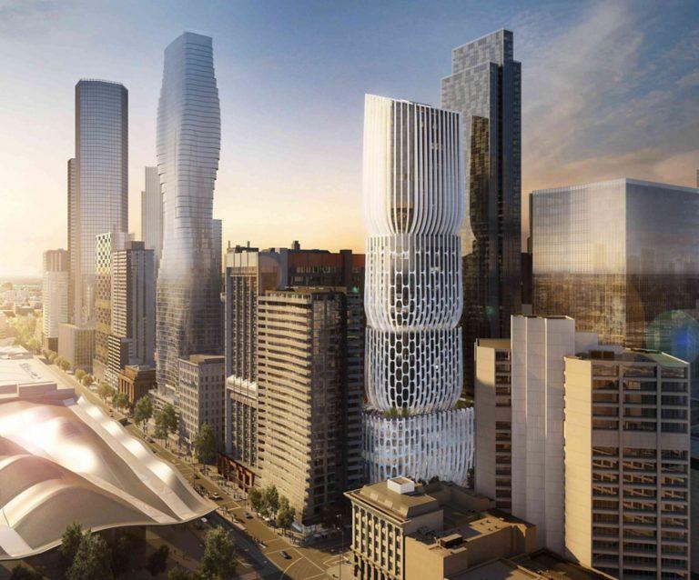 Torre onde vai ficar instalado o hotel Mandarin Oriental Melbourne