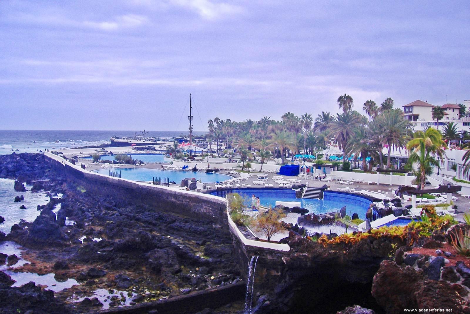 Lago Martiánez em Puerto de La Cruz (Tenerife Norte)