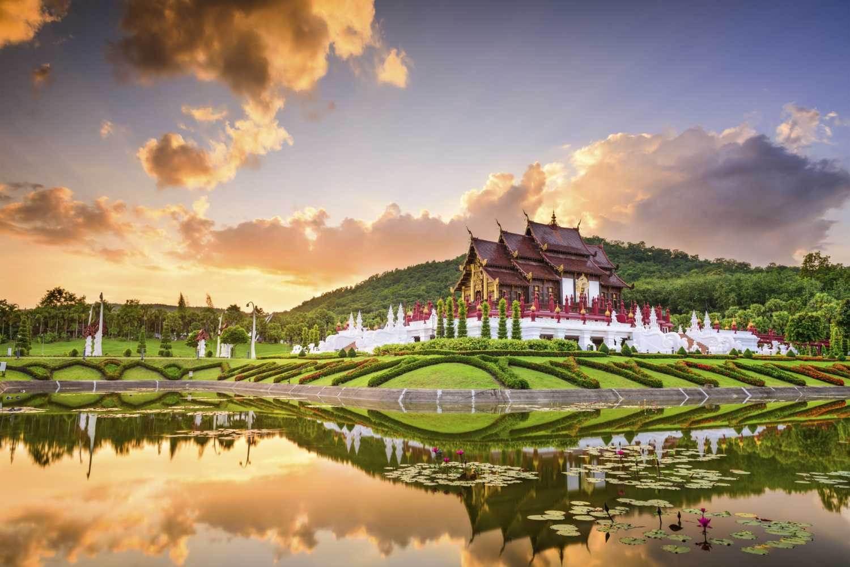 """Um templo em Chiang Mai na Tailândia, conhecida como """"Rosa do Norte"""""""