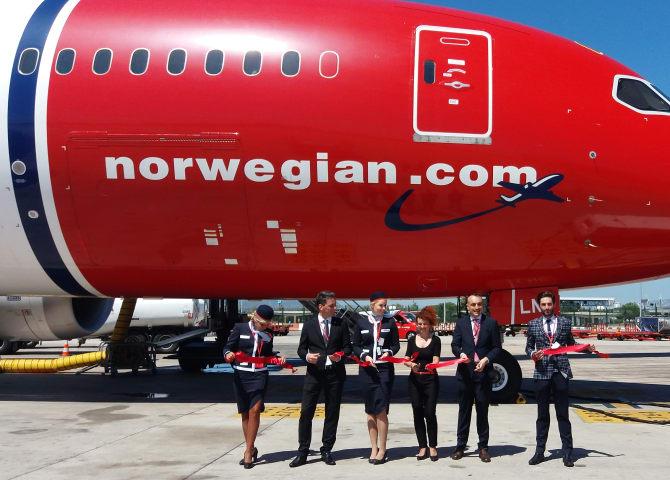 Inauguração da rota Barcelona - Miami da low cost Norwegian