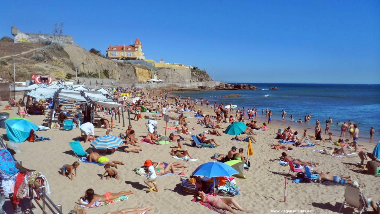 Fim de tarde em Agosto na praia da Poça em S. João do Estoril
