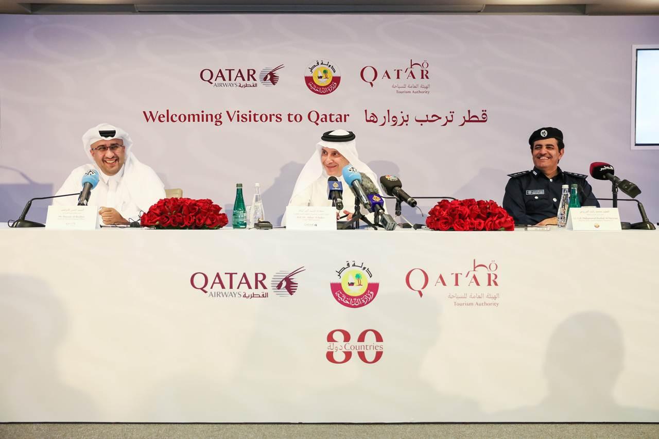 Anúncio dos responsáveis do Qatar pela isenção de visto para 80 países