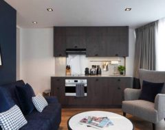 Cozinha e sala de estar do Residence Inn London Bridge