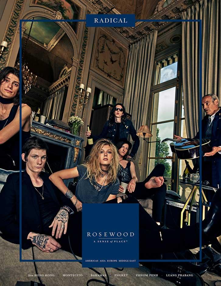 Da nova campanha publicitária da Rosenwood Hotels & Resorts
