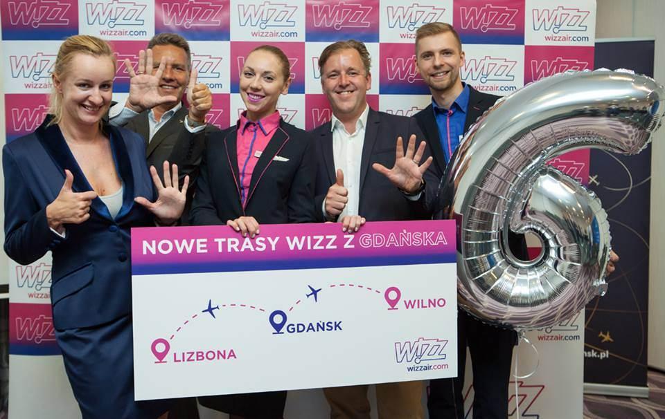 Apresentação das rotas de Gdansk para Lisboa e Vilnius da Wizz Air
