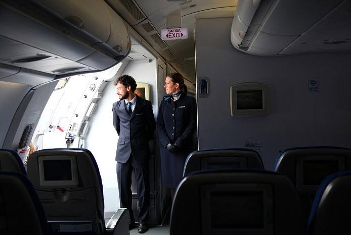 Momento de embarque numa aeronave da Air Europa
