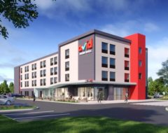 Rendering do exterior dos avid hotels do grupo IHG