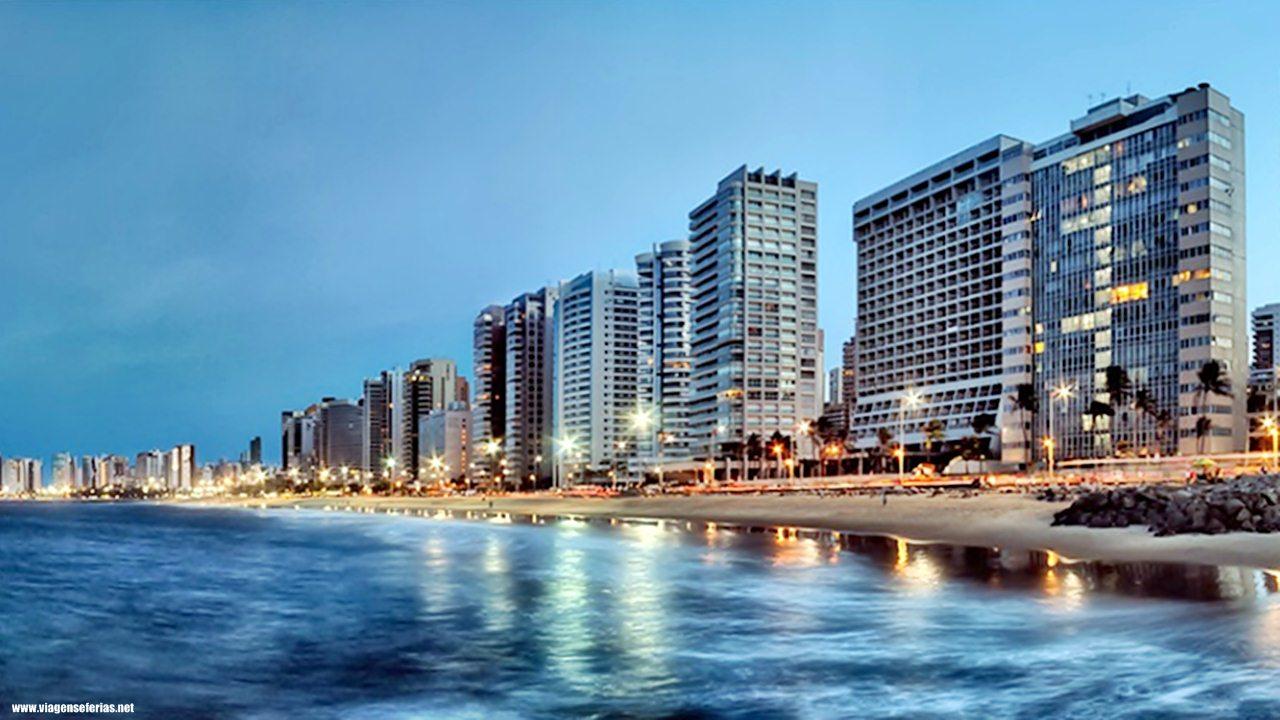 Beira-mar da cidade de Fortaleza no Brasil