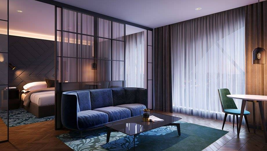 Quarto do West Hotel Sydney, Curio Collection by Hilton