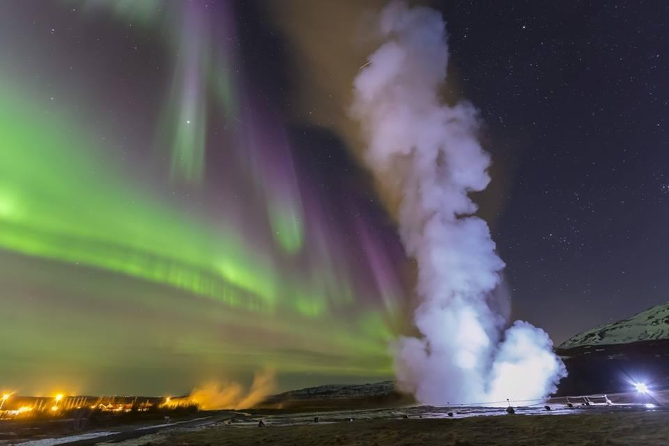 Luzes do Norte nas Islândia em programa de Natal e Fim de Ano da Nordictur