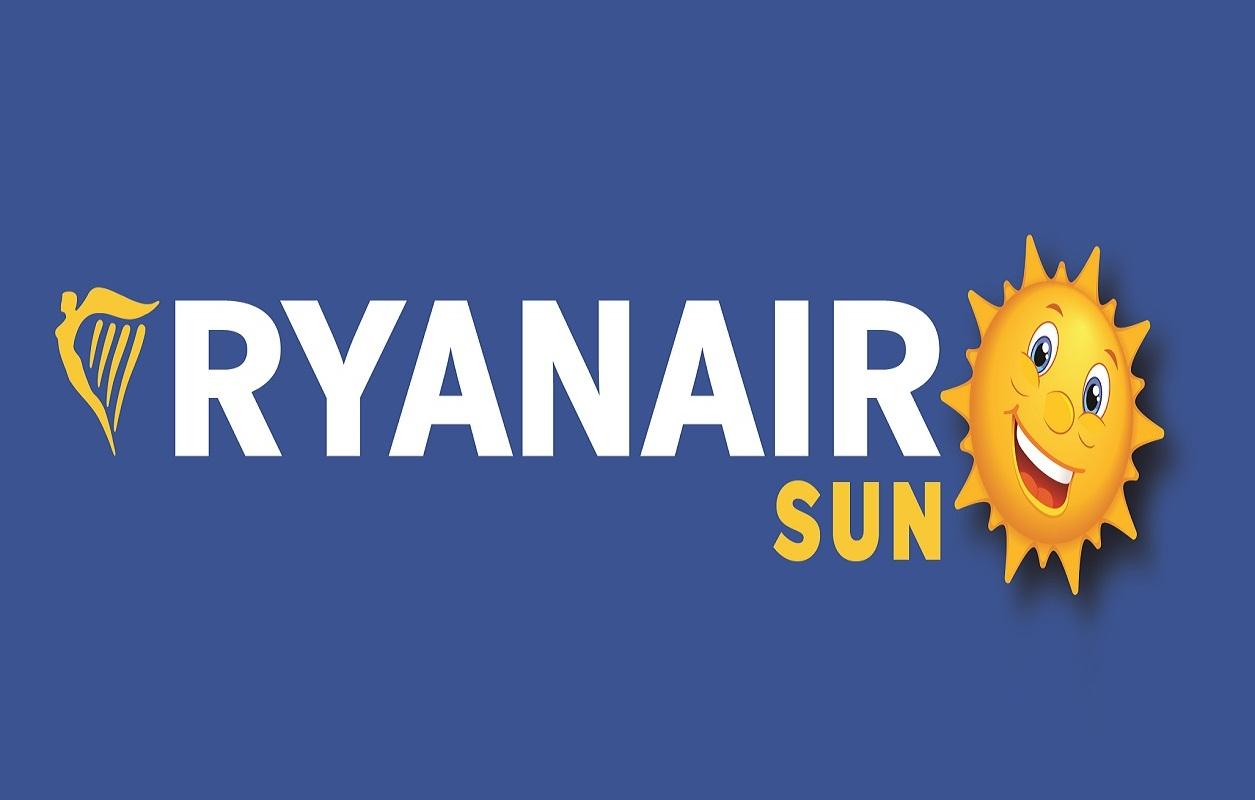 Logo da Companhia aérea low cost de charters Ryanair Sun