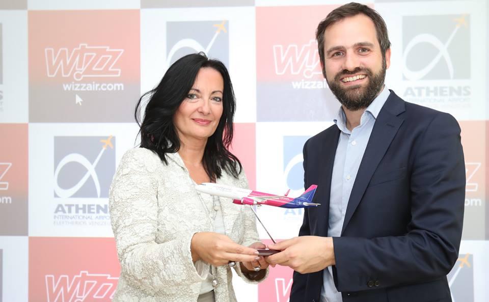 Apresentação das 8 rotas da low cost Wizz Air em Atenas