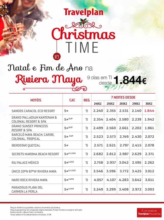 Fim de Ano ou Natal na Riviera Maia desde 1844€