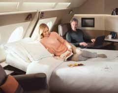 Suite do novo A380 da Singapore Airlines