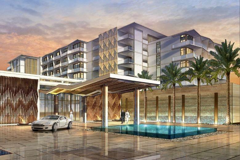 Projecto do hotel Hilton Cancun (frente)