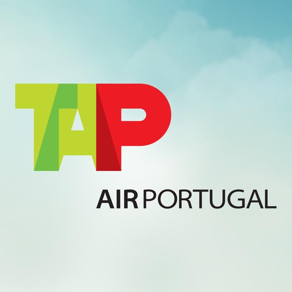 Logo da companhia aérea TAP Air Portugal