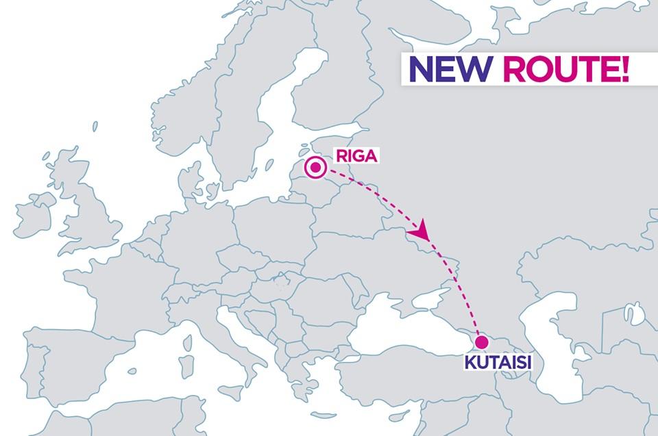 Nova rota entre Riga e Kutaisi na Geórgia da low cost Wizz Air