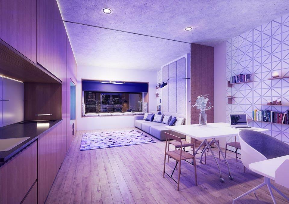 Apartamento dos YOTELPAD, marca da YOTEL para estadias longas