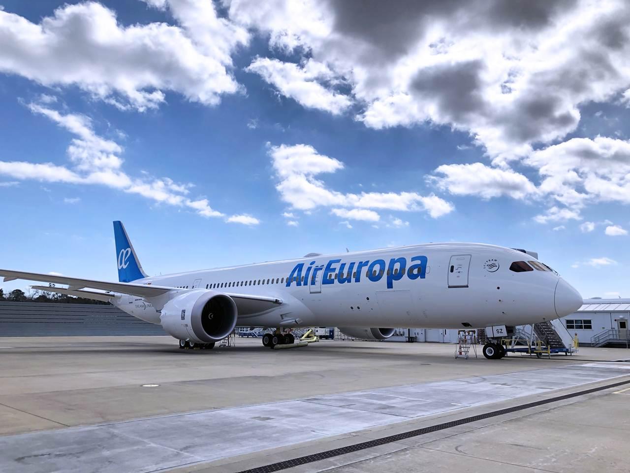 Boeing B787-9 da Air Europa em Madrid