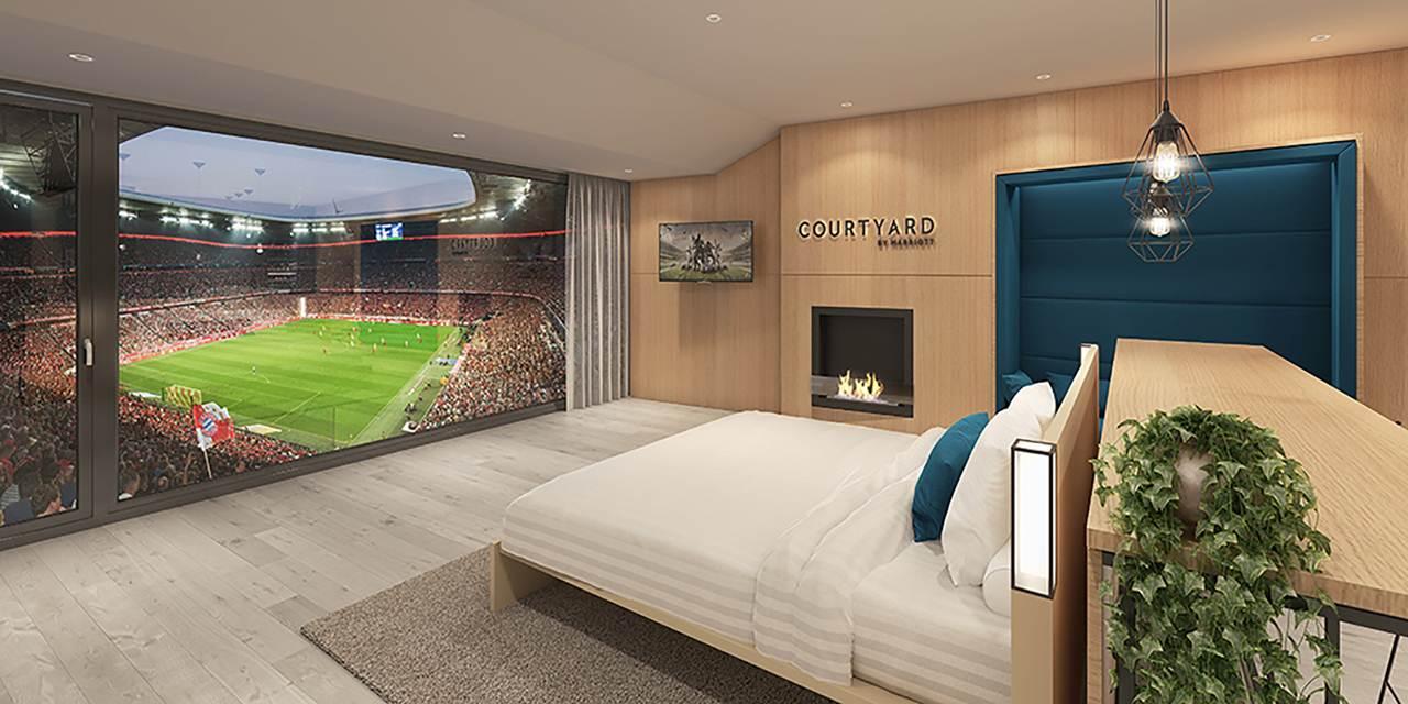 Suite da Courtyard by Marriott na Allianz Arena em Munique